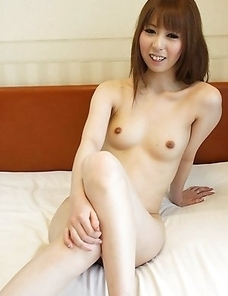 Rin Yazawa strips and poses nude then goes to work sucking off our raging meat shaft