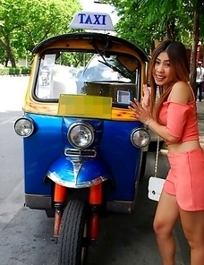 Stunning & perfect Thai babe Fon gets pussy rammed by white tourist