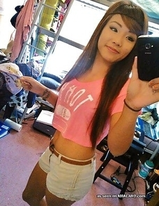 Gorgeous Asian honeys in non-nude selfpics