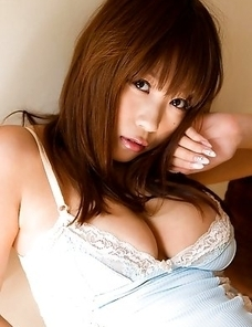 Mai Nishida Asian with big assets has ways of exposing her body