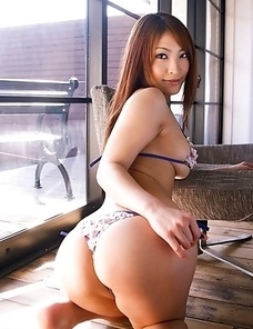 Rika Hoshimi takes uniform off and shows hot butt and titties